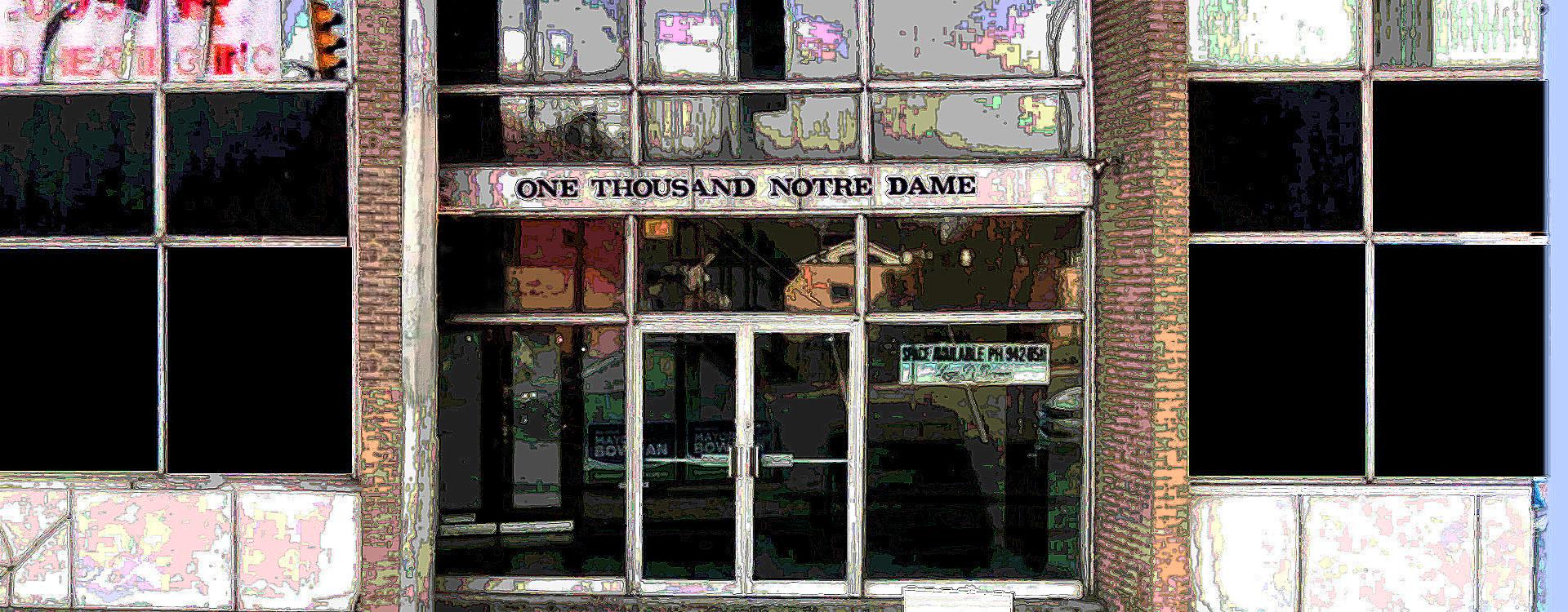 1000 Notre Dame: Main Floor – 2250 sq ft.
